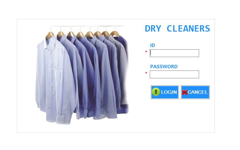 Dry Cleaner software Login.